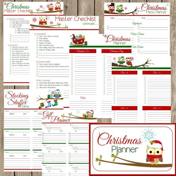 graphic regarding Free Christmas Planner Printables identify Free of charge Xmas Planner Printables - the Planners/Magazines