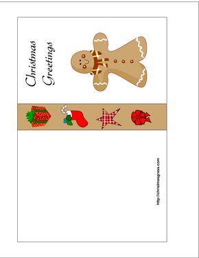 free printable christmas cards free printable christmas card with gingerbread man print this today christmas pinterest gingerbread man - Free Printable Xmas Cards