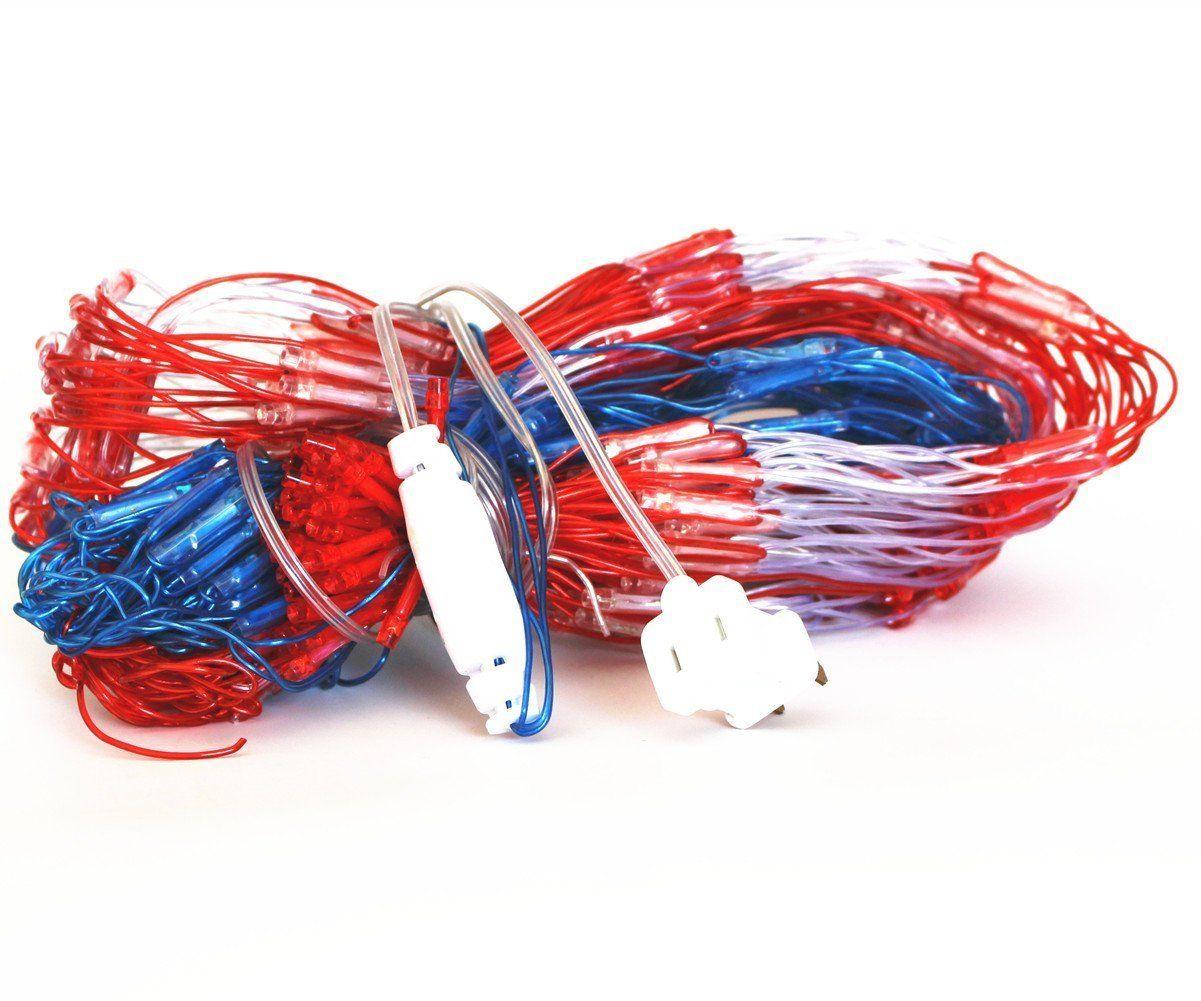 PYSICAL® 6.5ft×3.2ft Led Flag Net Lights of The United