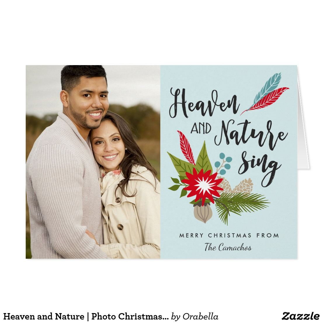 Heaven and nature photo christmas greeting card add a personal heaven and nature photo christmas greeting card add a personal touch to your holiday greetings m4hsunfo