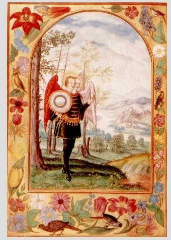 Splendor Solis. Image 9 - Hermaphrodite with egg