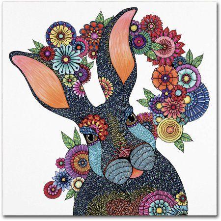 Trademark Fine Art inchMr. Rabbitinch Canvas Art by Hello Angel, Assorted
