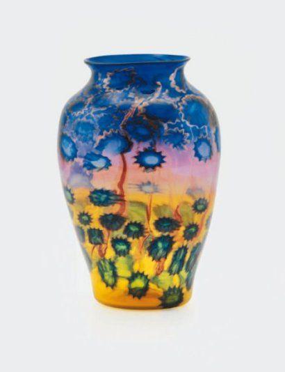 Baroviers murano large murrine vase glass murano art for Barovier e toso catalogo vasi