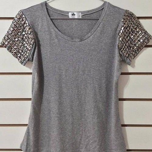 850c448cecc9f blusa com pedraria nas mangas - Pesquisa Google   Moda Feminina ...