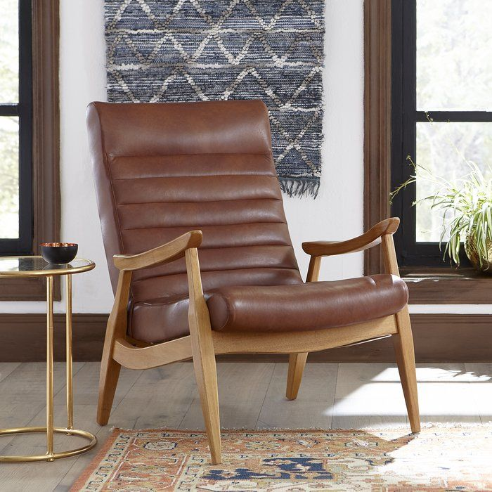 Hans Leather Armchair Chair Furniture Accent Chairs