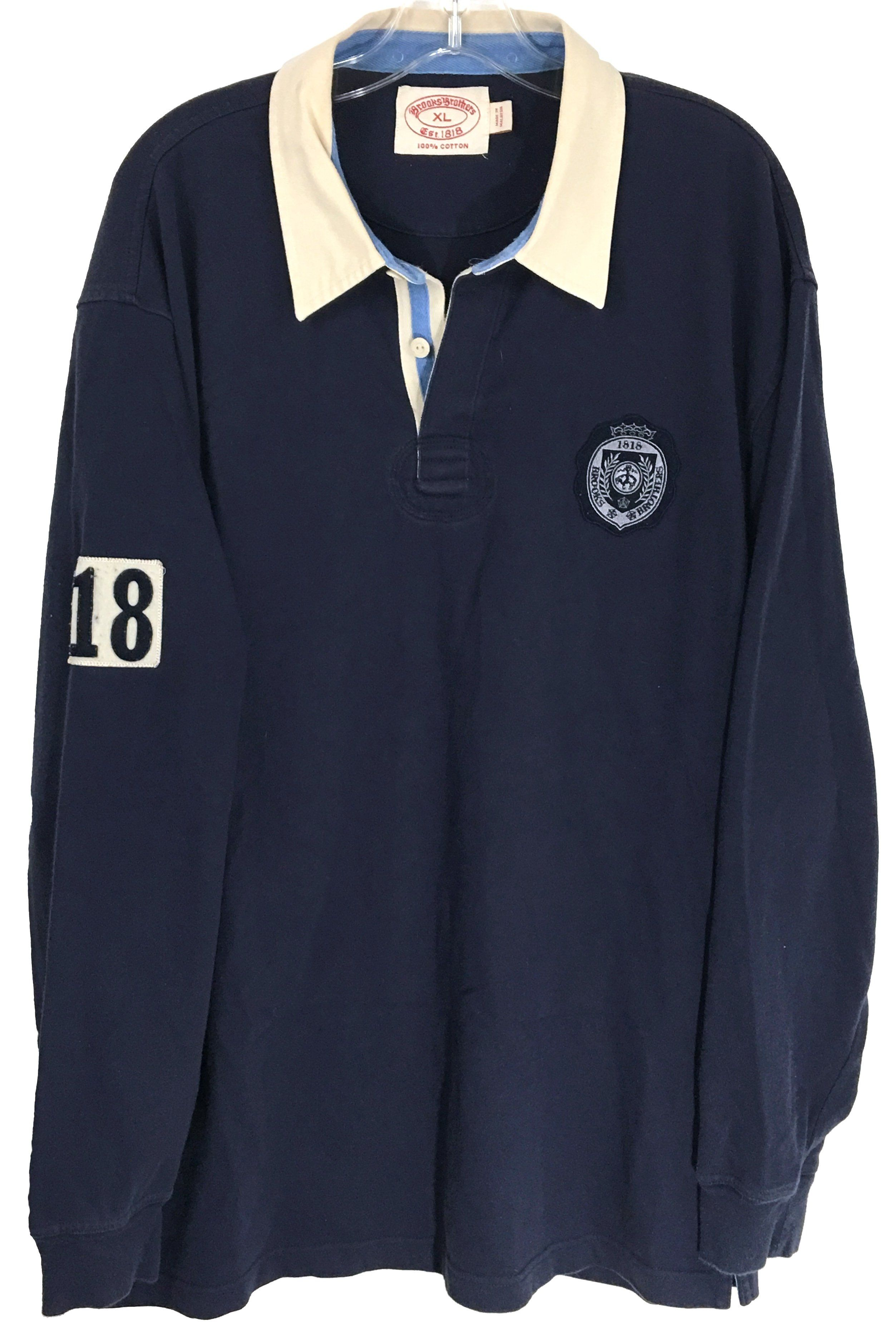 978f62c5 Brooks Brothers Vintage Navy Blue Long Sleeve Cotton Rugby Polo Shirt Mens  XL - Preowned #BrooksBrothers #PreppyFashion #MensPolo #Rugby
