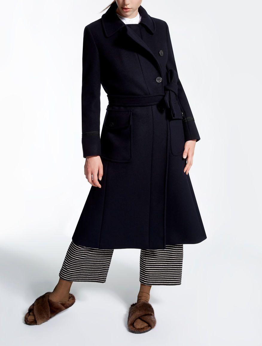 Max mara mantel schwarz
