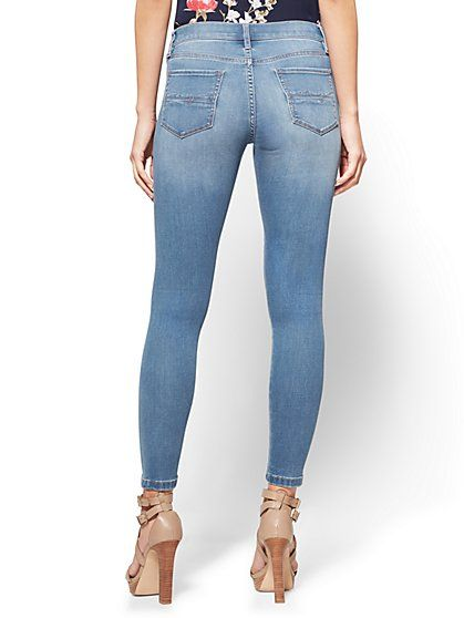 Soho Jeans - Seamless Ankle Legging - Blue Society Wash - New York & Company