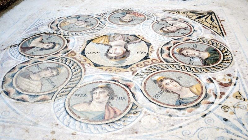 Archaeologists Unearth 2 200 Year Old Mosaics In An Ancient Greek City Roman Mosaic Ancient Greek City Ancient Art