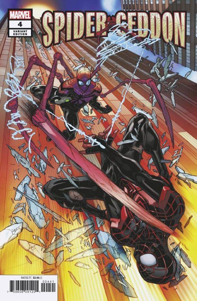 Spider geddon 4 javier garron 1 25 variant cover anime marvel comics marvel avengers et - Mechant avenger ...