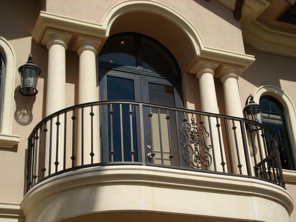 Wrought Iron Handrail design-balcony | Balcony railing ...