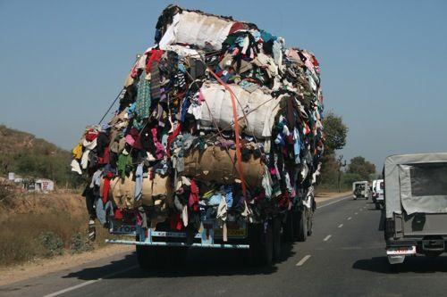Overloaded truck!
