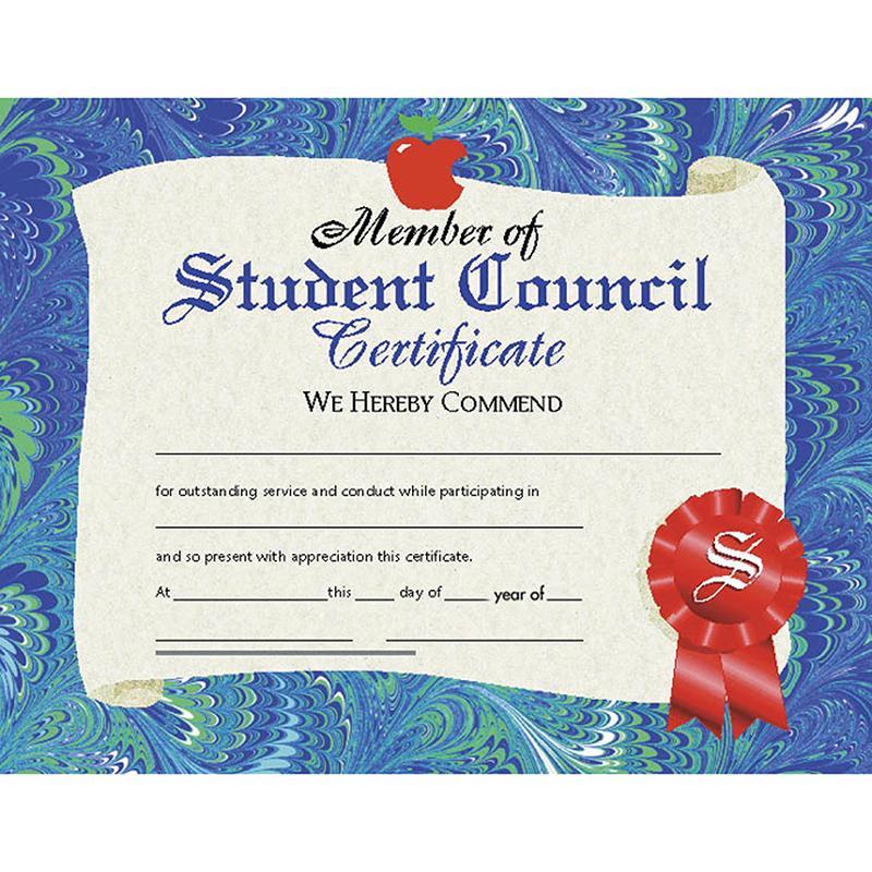 Certificates student council 30/pk ideas college Student council