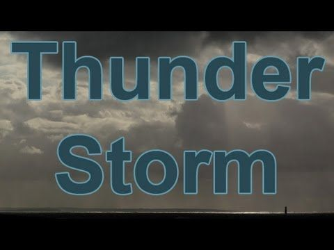 1 Hour-THUNDER & RAIN-Storm at Sea-The Perfect Storm-Nature Sounds