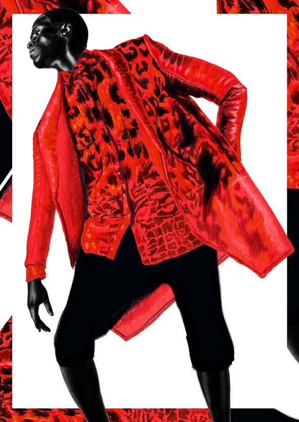 """Princes and Prints"" Illustration for Dash Magazine issue 4, by Nas Abraham  www.nasabraham.com  Artwork, Fashion illustration, Fine art, shirt, prints, textiles, screenprints, illustration, Menswear, Mens outfit, Mens style, Fashion, Mens fashion, style, soulland,"