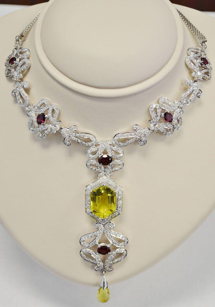 Diamond Necklace  18 karat white gold - Gorgeous!