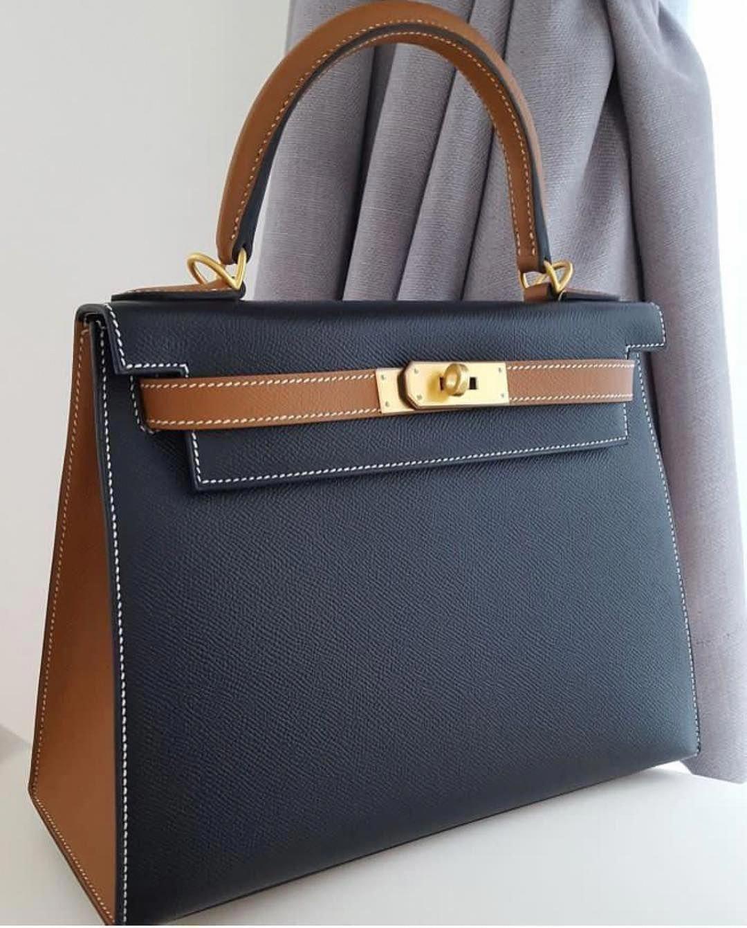 45bd613d4c79 Hermes Kelly 28 Sellier HSS Black   Gold Epsom Ghw A  Hermeshandbags.  Visit. January 2019