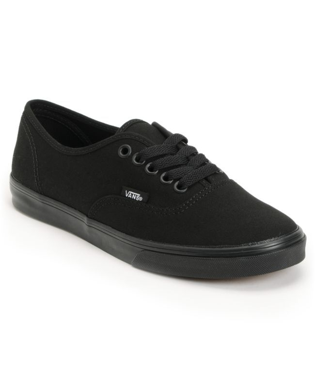 6a4e4b2c807eac Vans Girls Authentic Lo Pro All Black Shoe. I just love these. If you love  me you ll get these for me!