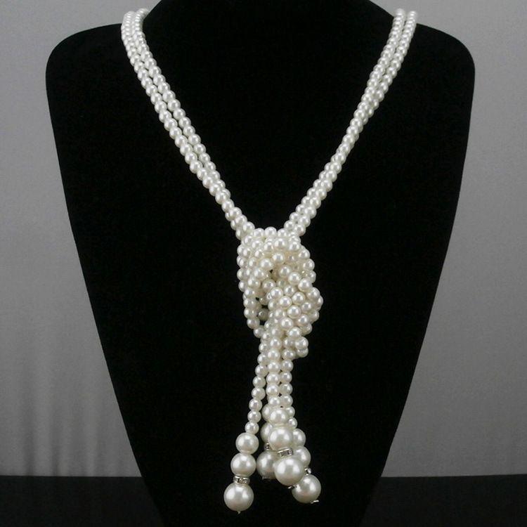 486ccefe1188 Collar de perlas largo 1