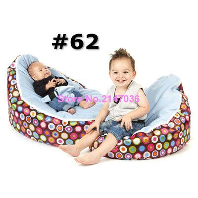 Discojelly Balls With Blue Seat Baby Bean Bag Chair 2 Upper Cover Tops Kids Beanbag