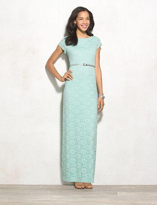 Misses   Dresses   Lace Dresses   Belted Lace Maxi Dress