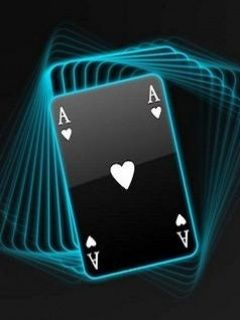 Download Neon Ace Card Mobile Wallpaper Mobile Toones Cards