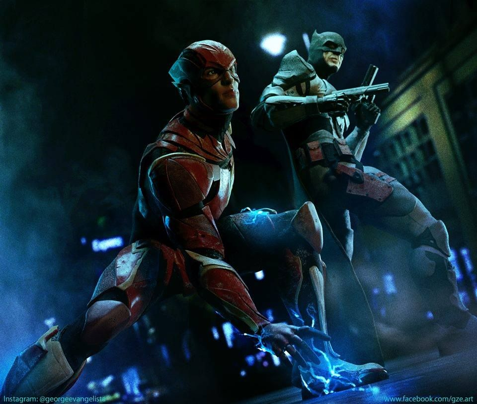 More Artwork From George Evangelista This Time Depicting Thomas Wayne Batman And Flash