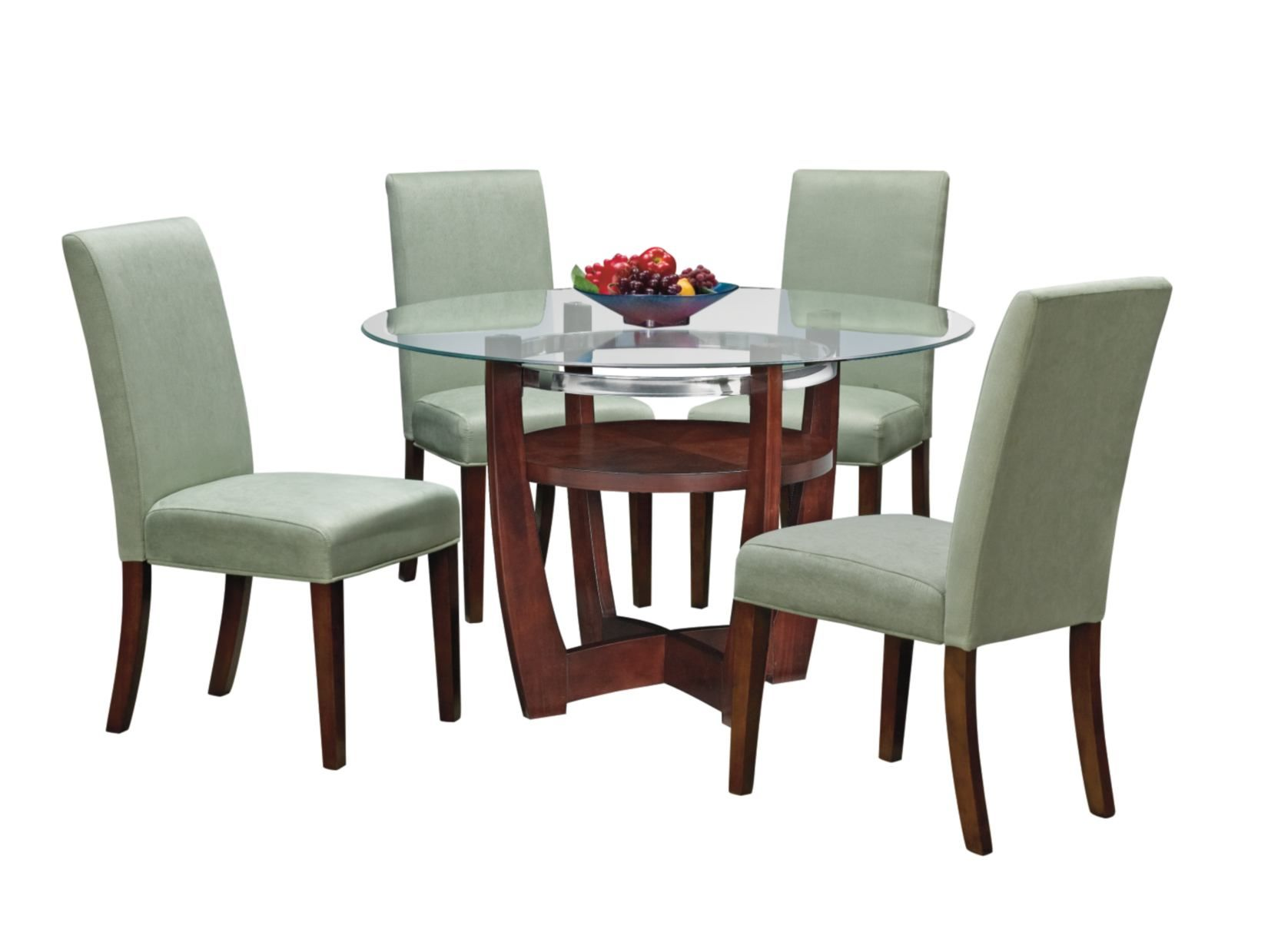 Finish Off Your Kitchen Or Dining Room With The Alcove Table Set This 5 Piece Package Includes A 48 Rou Value City Furniture Furniture Red Kitchen Tables