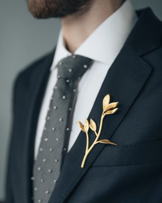 Leaf Branch Boutonniere 3d Printed Stainless Steel Men S Suiting Accessory Suit Accessories Boutonniere Wedding Rustic Boutonniere Wedding