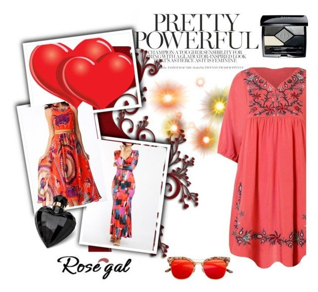 """ROSEGAL 57"" by omerovic-sumea ❤ liked on Polyvore featuring Christian Dior, Lipsy, Pumps, dress, bag, fashionme and rosegal"
