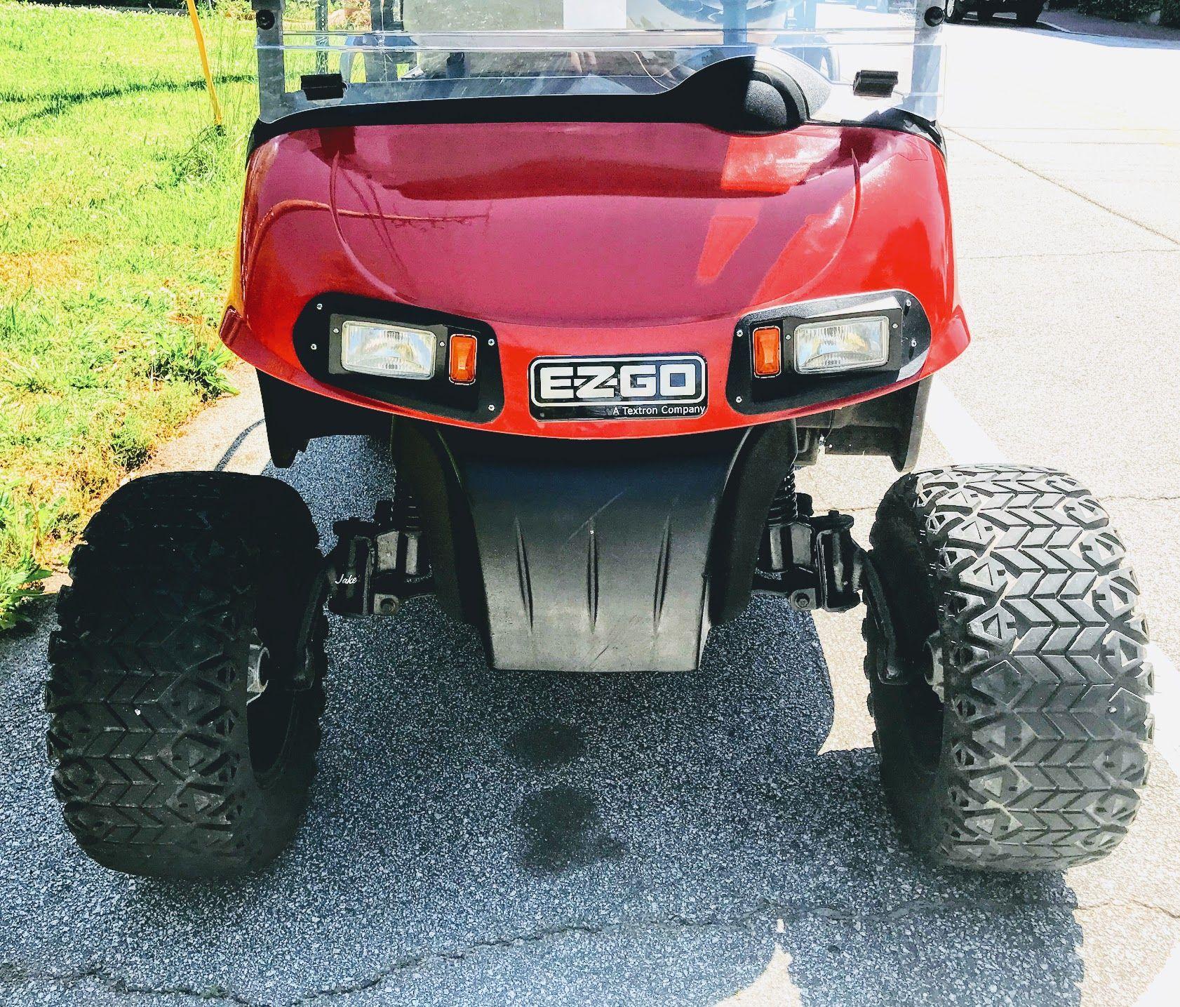 Golf Cart Ideas For A Lifted Cart Golf Cart Lift Kits Ezgo Golf Cart Accessories Golf Carts