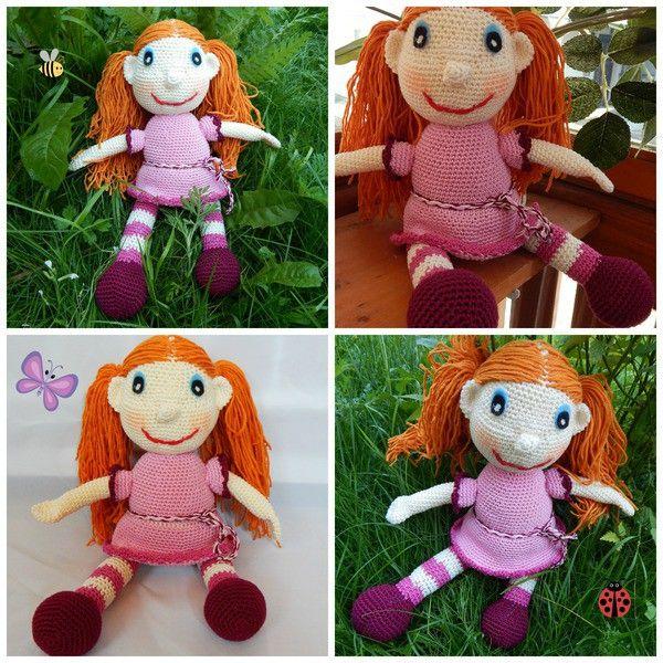 Häkelanleitung Puppe Klementine - ~35 cm