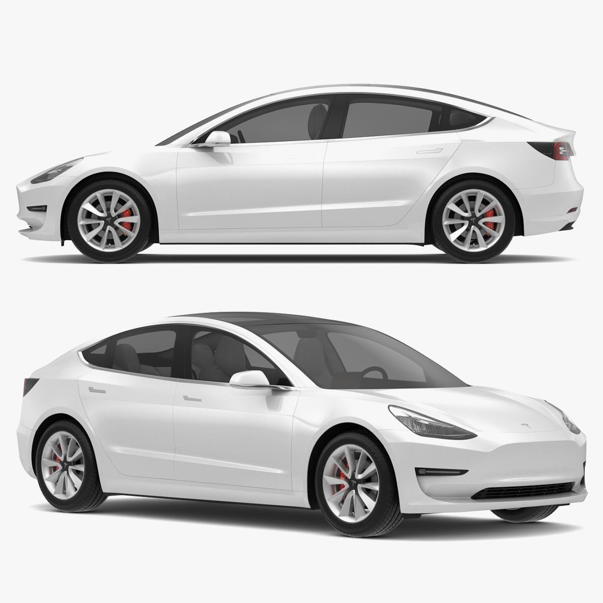 2018 Tesla Model 3 White Multi Coat 3d Model Ad Model Tesla Coat Multi In 2021 2018 Tesla Model 3 Tesla Model Tesla