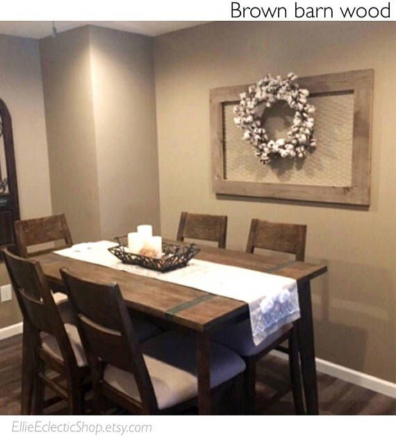 Our Extra Large Barnwood Frame Is Sure To Make An Impression Made