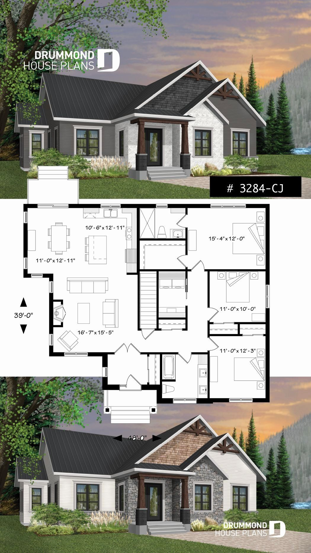 Bloxburg 3 Story Modern House Unique House Plan Providence 1 No 3284 Cj In 2020 Craftsman House Plans House Plans House Exterior