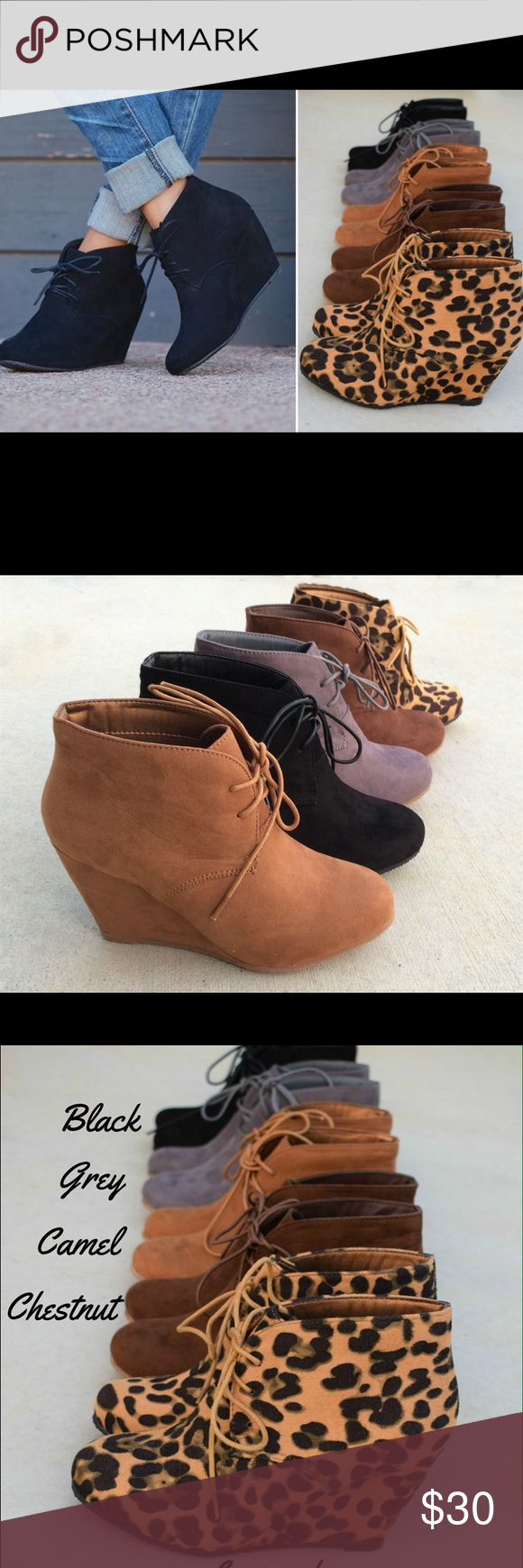 Ankle booties I have two pairs of these one in grey and camel. Both new and size 10. Shoes Ankle Boots & Booties