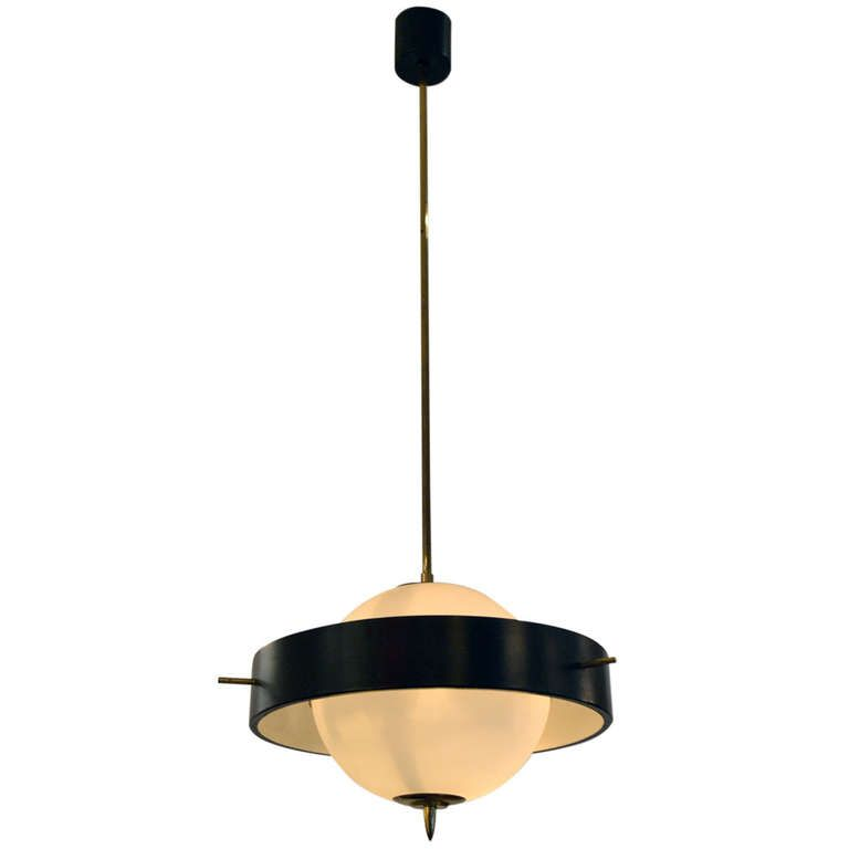 Italian Pendant Light By Stilnovo