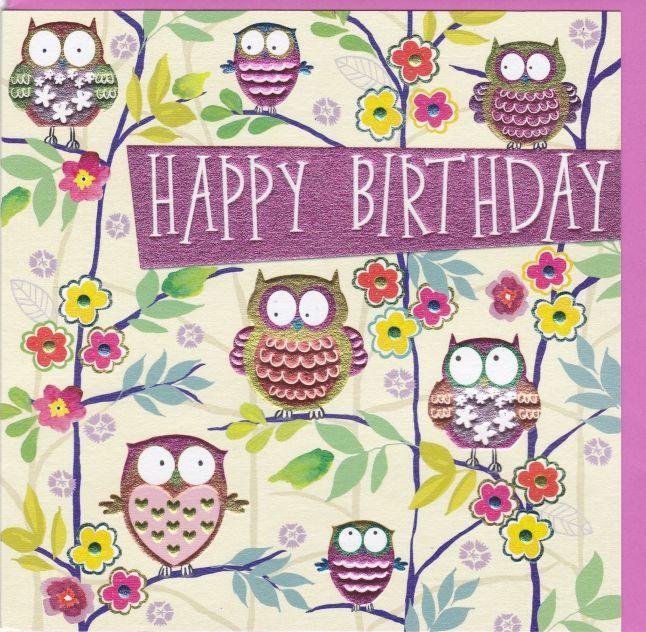 Owls Birthday Card