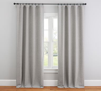 Calhan Tweed Drape Gray Fleck Potterybarn Grey Curtains Linen Curtains Tweed Curtains