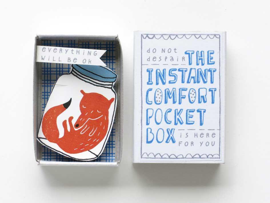 Instant Comfort Boxes van @kimwelling, een interview in de Papier-editie van Maak Magazine.
