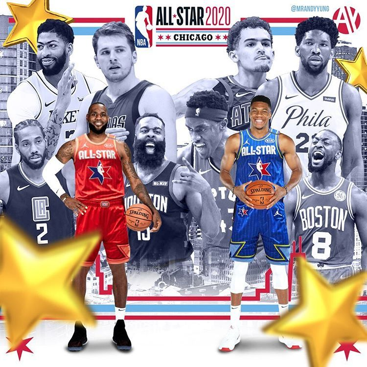 Andy Yung On Instagram Your 2020 Nba All Star Game Starters Lebron And Giannis Will Be Captains For The Second Year I In 2020 Nba Players Nba Outfit Nba Fashion