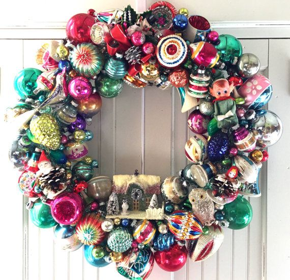Trip To Kitsch Island Vintage Christmas Ornament Wreath Christmas Ornament Wreath Vintage Ornament Wreath Vintage Christmas Ornaments