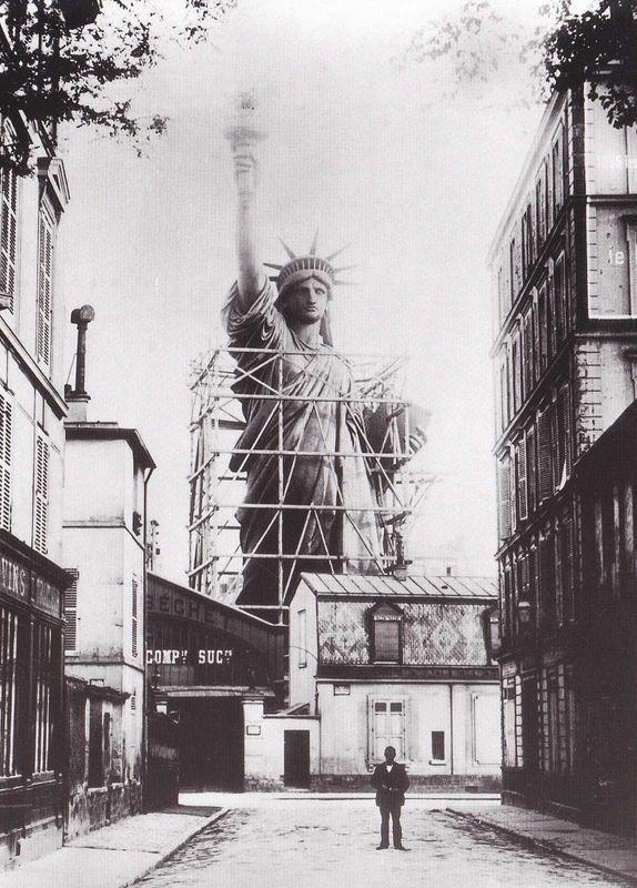 Estatua de la Libertad se construye en París