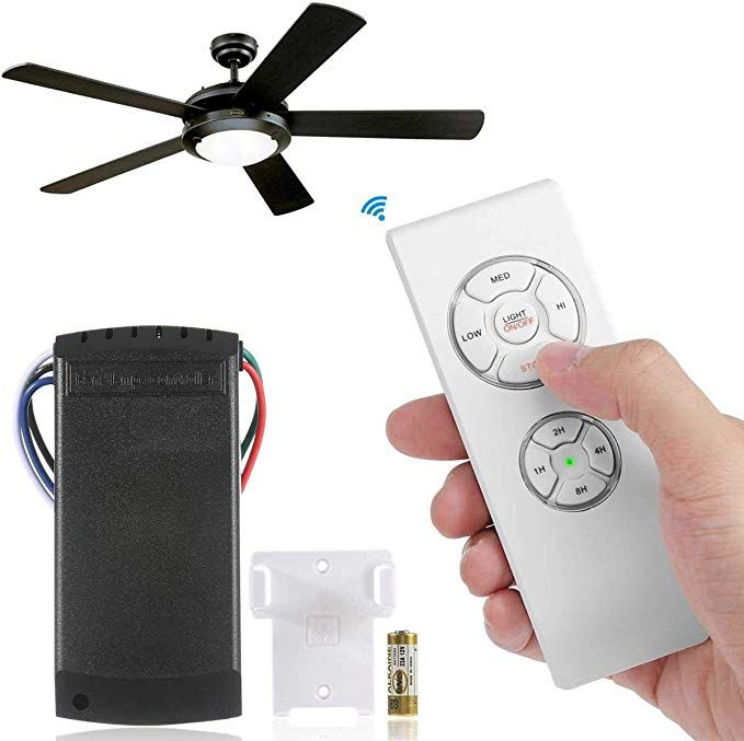 Universal Ceiling Fan Lamp Remote Controller Kit With Receiver And Battery Wireless Remote Control Kit For Hunter Harbor Br Fan Lamp Ceiling Fan Westinghouse