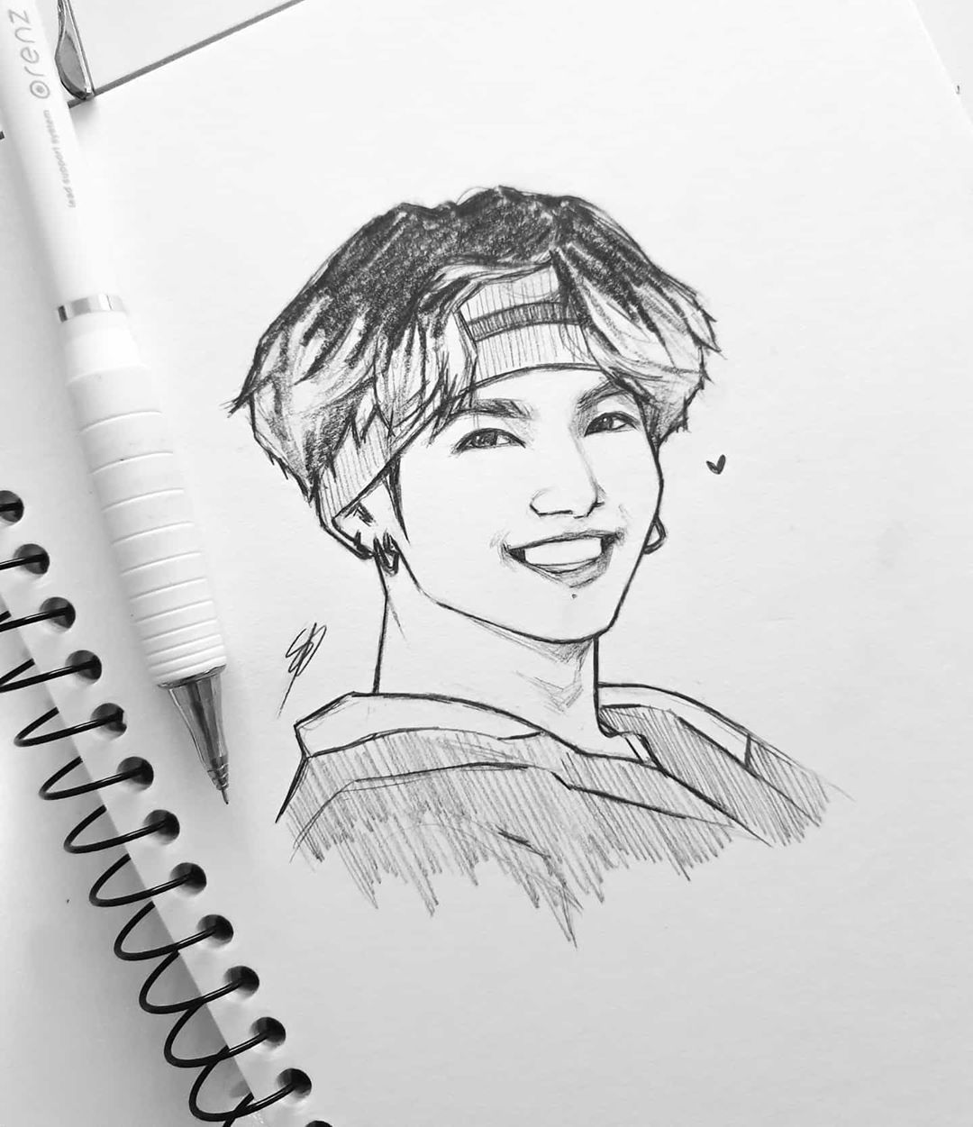 """Photo of • Nikki • on Instagram: """"I ran out of HB lead so I sketched this with 2B and it was so smudgey 😅 #bts #btsfanart #fanart #Jungkook #art #drawing #sketch #kpop…"""""""