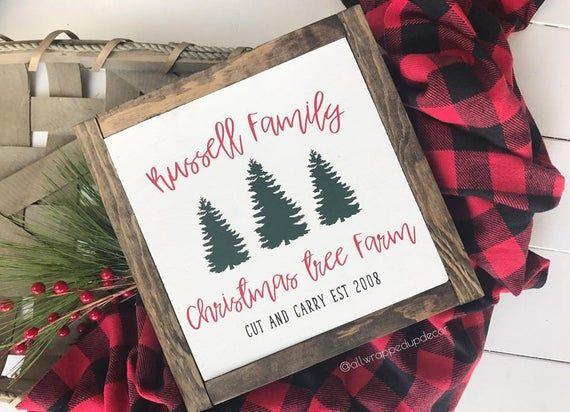 Christmas Trees Sign Christmas Trees For Sale Wall Decor Holiday Sign Custom Fixer Upper Joanna Gain