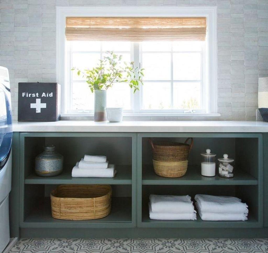 43 amazing farmhouse laundry room decor ideas room