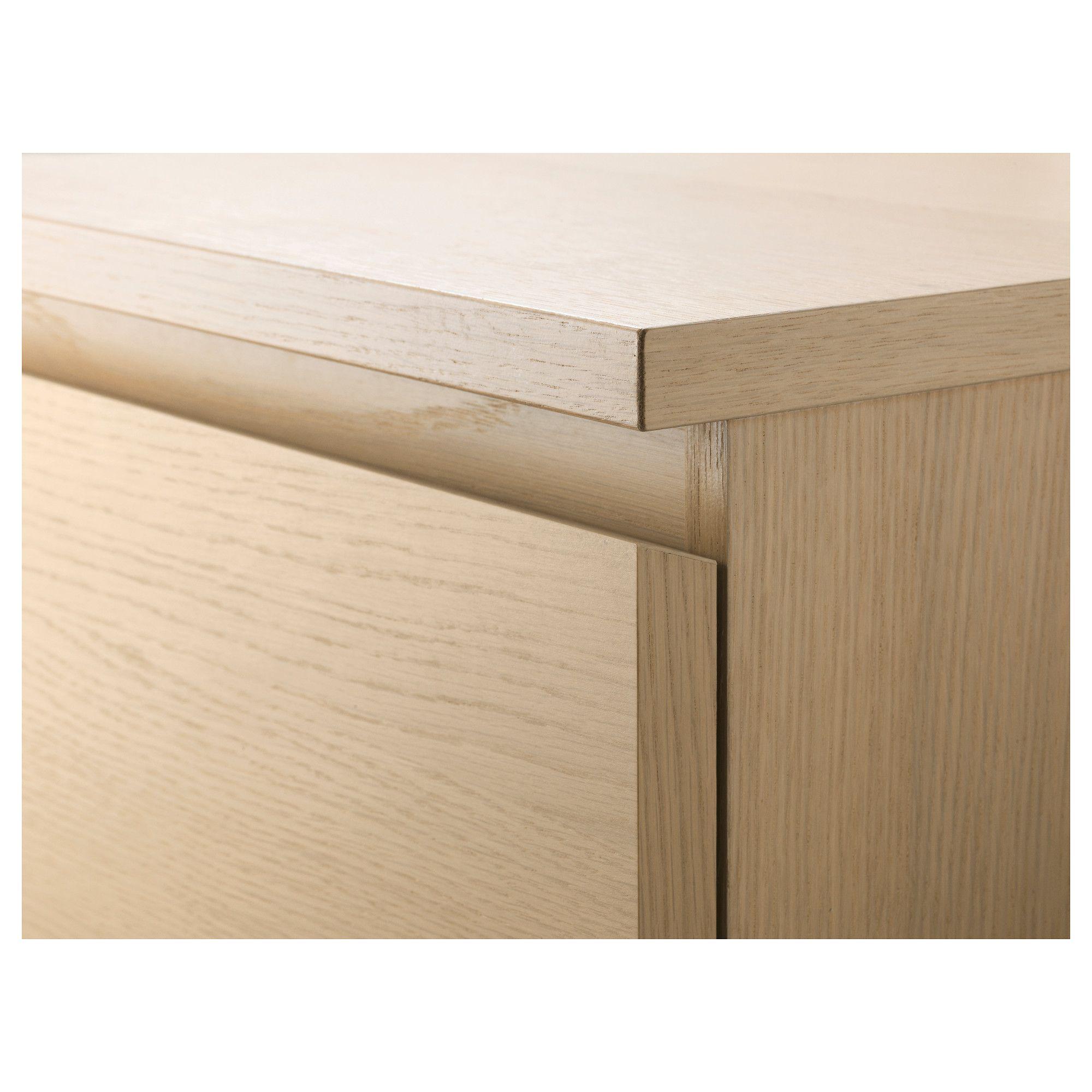 Best Ikea Malm 3 Drawer Chest White Stained Oak Veneer Ikea 400 x 300