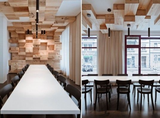 pixelated swiss wine store made from 1500 wine boxes - Pixelated Interior Design