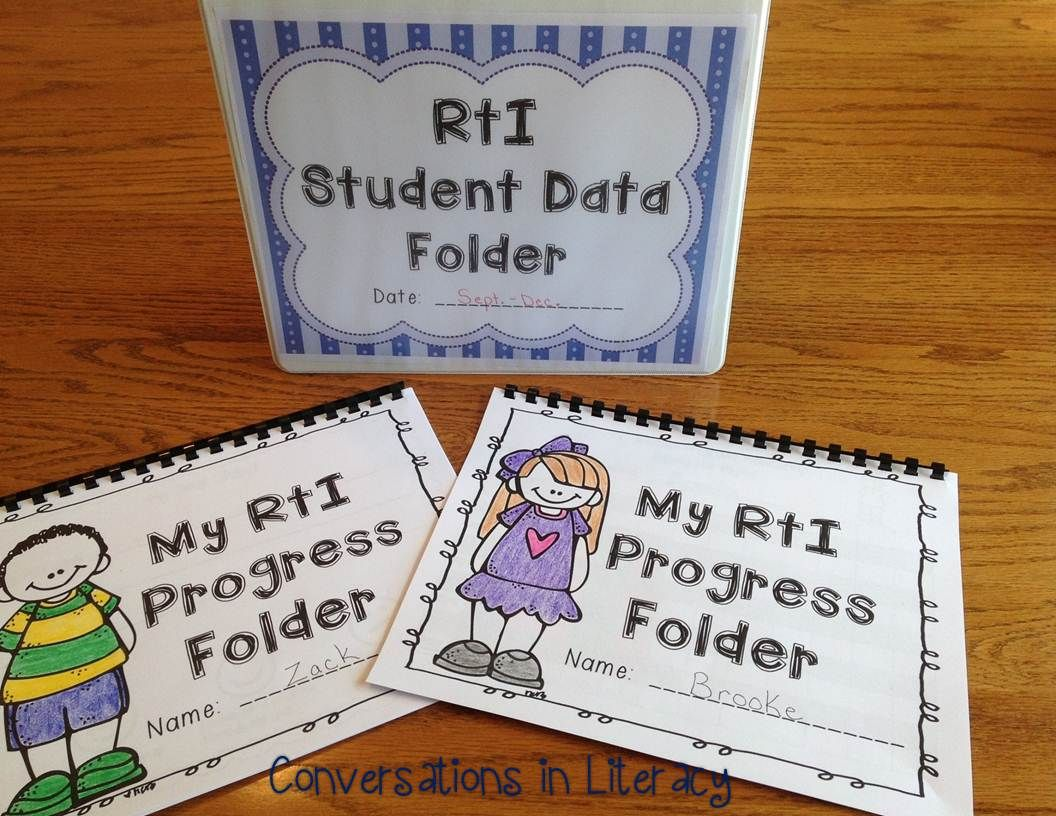 Rti Data Tracking Forms Binder For Teachers And Students